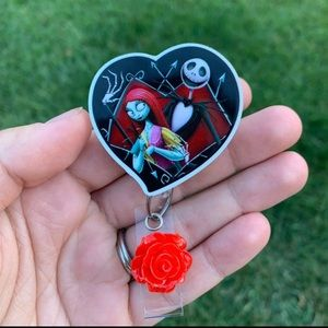 Jack & Sally Badge Holder
